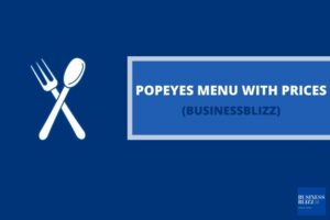 Popeyes Menu With Prices